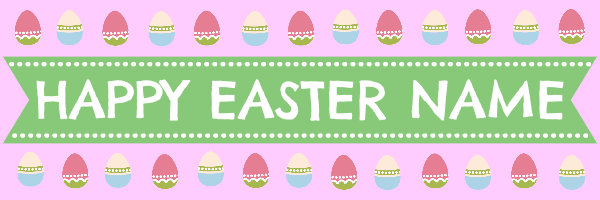 Personalised+Vintage+Easter+Banner - design template - 293