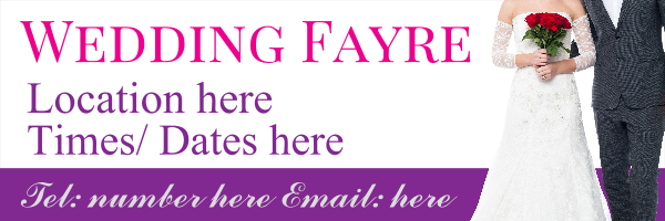 Personalised+Wedding+Fayre%2FFair+Banner - design template - 302