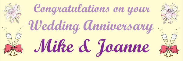 Personalised+Celebration+Anniversary+Banner+ - design template - 303