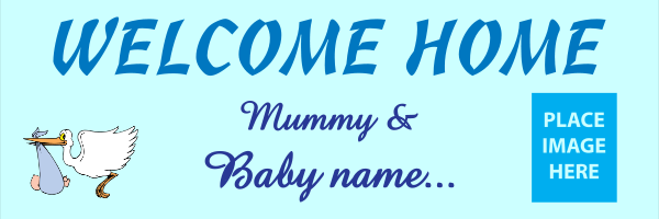 Personalised+Welcome+Home+From+Mummy+and+Baby+Blue - design template - 308