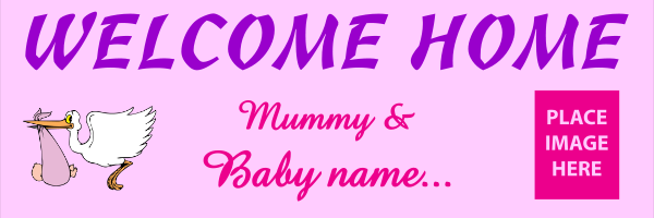 Personalised+Welcome+Home+From+Mummy+and+Baby+Pink - design template - 310