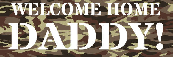 Personalised+Welcome+Home+Army+Banner+ - design template - 313