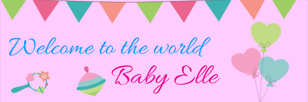 Personalised+Welcome+to+the+world+Banner+ - design template - 316