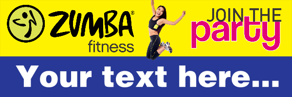 Personalised+Zumba+Banner - design template - 328