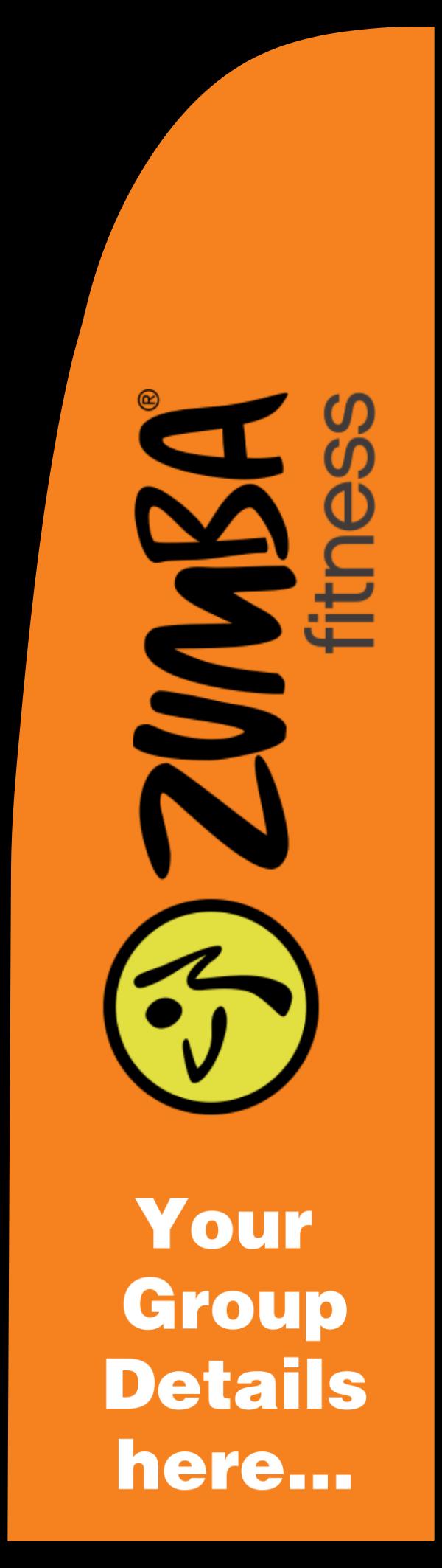 zumba_orange_flag - design template - 331