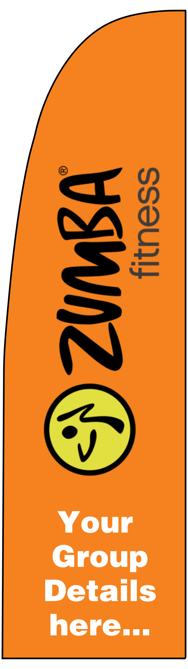 zumba_orange_flag - design template - 331