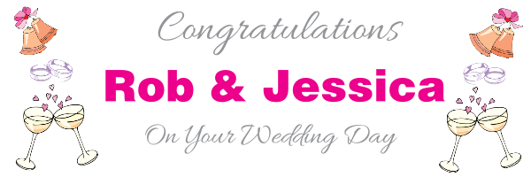 Personalised Wedding Banner 22congratulations 22 Bells Design Template 35