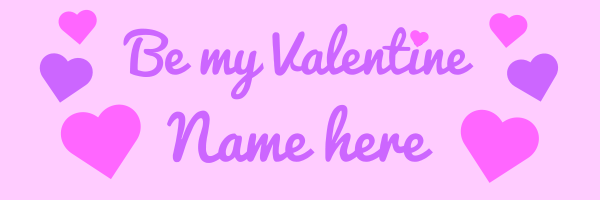 Personalised+Be+My+Valentine+Banner - design template - 39
