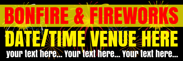 Personalised+Bonfire+and+Fireworks+Banner+ - design template - 46