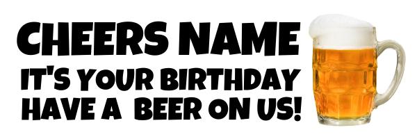 Cheers+Beer+Personalised+Banner - design template - 555