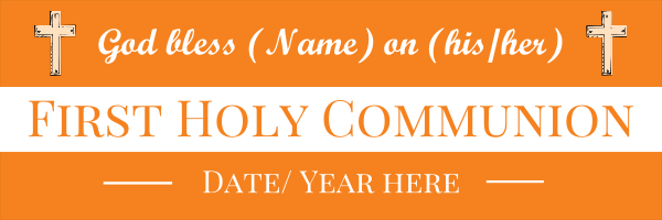 Personalised+1st+Holy+Communion+Banner+ - design template - 6