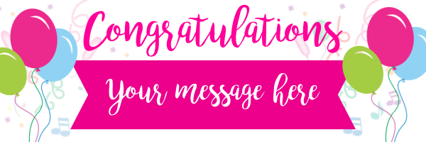 Personalised+Party+Congratulations+Banner - design template - 685