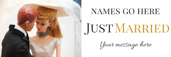 Just+Married+Personalised+Banner - design template - 701