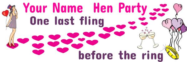 Hen+Party+Banner - design template - 715