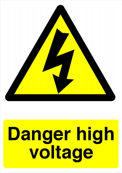 Danger+High+Voltage+Safety+Sign - design template - 725