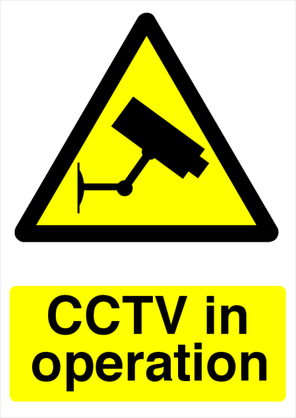 CCTV+in+operation+Printed+Sign - design template - 727