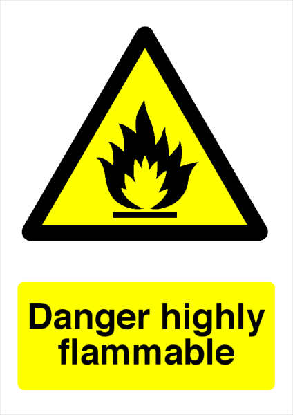 Danger+Highly+Flammable+Safety+Sign - design template - 728