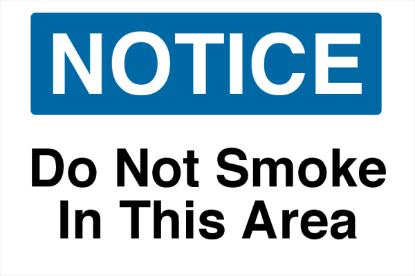 Do+Not+Smoke+Printed+Sign - design template - 729