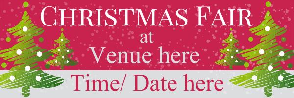 Personalised+Christmas+Fayre%2FFair+Banner - design template - 73