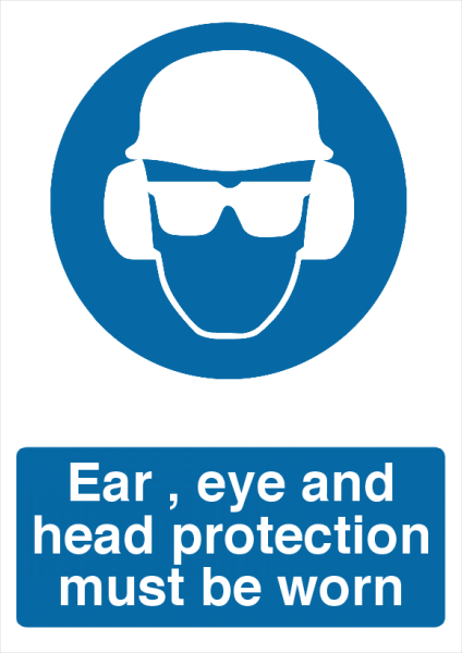 Ear%2C+Eye+and+Head+Protection+Sign - design template - 730