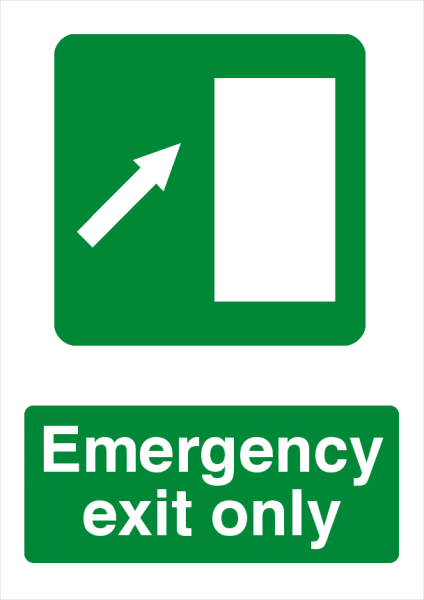 Emergency+Exit+Printed+Sign - design template - 731