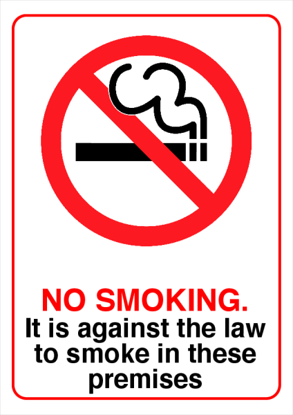 No+Smoking+Printed+Sign - design template - 732