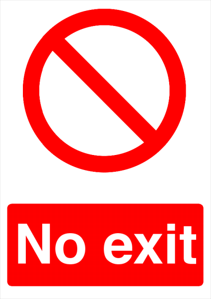 No+Exit+Printed+Sign - design template - 737