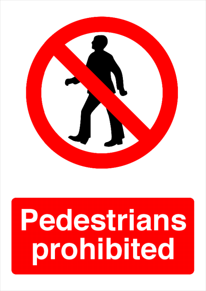Pedestrians+Prohibited+Foam+Board+Sign - design template - 739