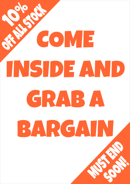 Grab_A_Bargain_Poster - design template - 745