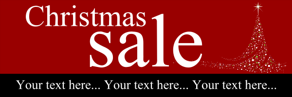 Personalised+Christmas+Sale+Banner+ - design template - 77
