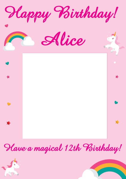 Happy+Birthday+Selfie+Frame - design template - 786