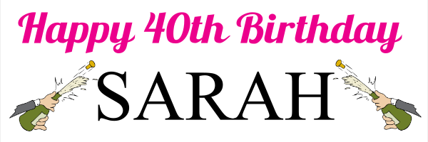 Personalised+40th+Birthday+Banner+ - design template - 8
