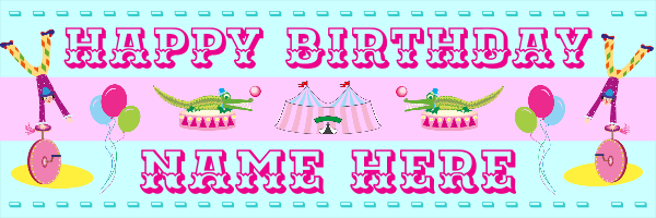 Personalised+Children%27s+Birthday+Banner+ - design template - 81