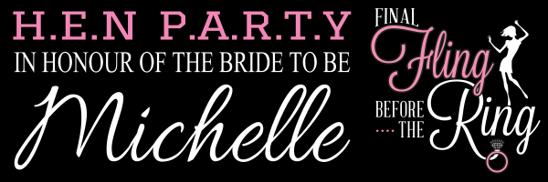 Custom+Hen+Party+Banner+ - design template - 815