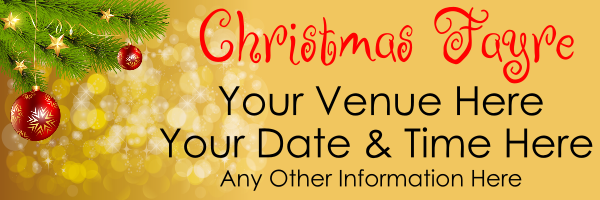Christmas_Fayre_banner - design template - 822