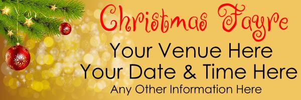 Christmas_Fayre_banner - design template - 822