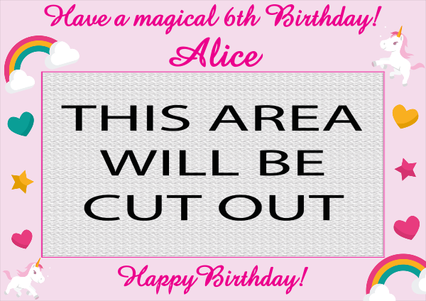 Unicorn_Birthday_Selfie_Frame - design template - 848
