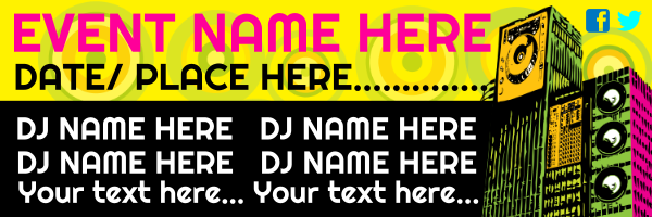 Personalised+Night+Club+Banner+ - design template - 85