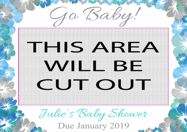 Baby_Shower_Selfie_Frame - design template - 856