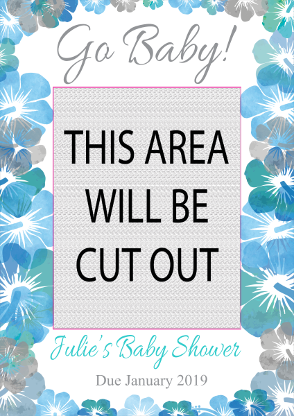 Baby_Shower_Selfie_Frame - design template - 857