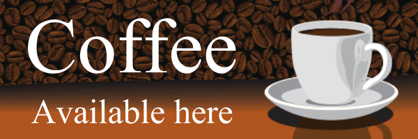 Personalised+Coffee+Here+Banner+ - design template - 87