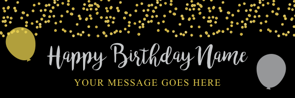 Gold+Confetti+Birthday+Banner - design template - 895