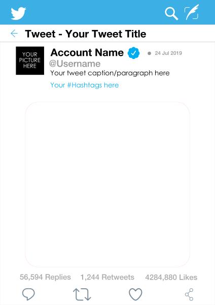 Custom+Twitter+Selfie+Frame - design template - 904