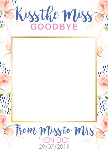Custom+Flower+Wedding+Selfie+Frame - design template - 914