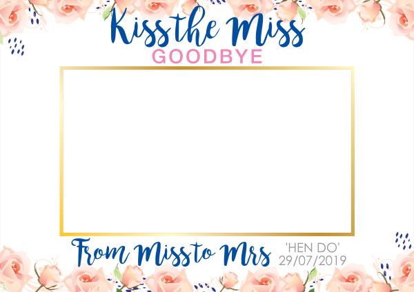 Custom+Flower+Wedding+Selfie+Frame - design template - 916