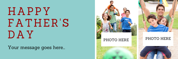 Custom+Photo+Fathers+Day+Banner - design template - 919