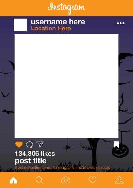 Custom+Instgram+Halloween+Selfie+Frame - design template - 925