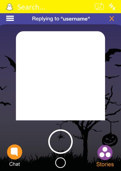 Custom+Snapchat+Halloween+Selfie+Frame - design template - 926