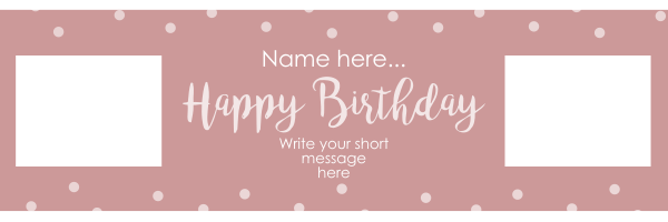 Dots+Personalised+Birthday+Banner - design template - 934