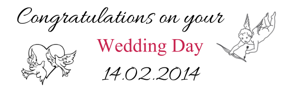 94g personalised congratulations on your wedding day banner 94 pronofoot35fo Images